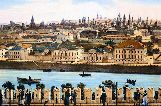 Вид на Замоскворечье. 1850 год