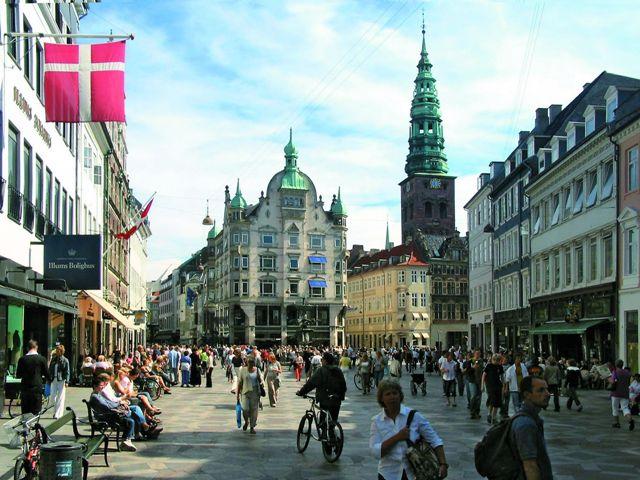 Главная пешеходная улица Копенгагена