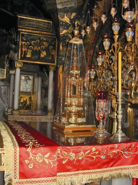 Православный престол в Голговском храме