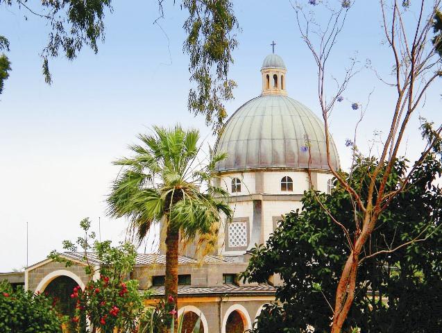 Католический храм на горе Блаженств