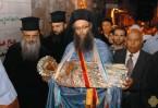 Крестный ход в Иерусалиме с плащаницей Пресвятой Девы
