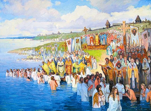 Крещение Руси святым благоверным князем Владимиром на берегах Днепра. Роман Кравчук