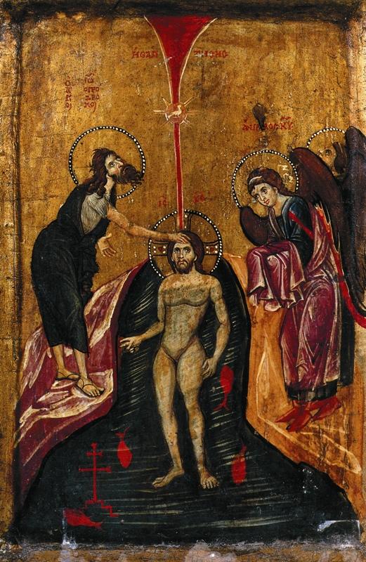 Икона «Крещение» XIII века, хранящаяся в монастыре св. Екатерины на Синае
