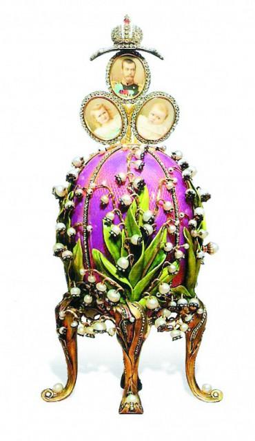 «Ландыши», 1898 г., самое любимое яйцо Александры Федоровны