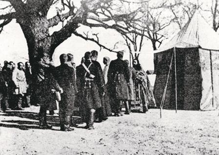 Литургия в походном храме во время Русско-японской войны