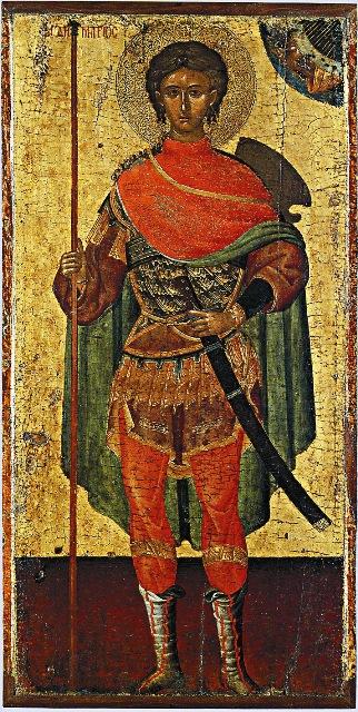 Накануне Куликовской битвы князь Димитрий Донской перенес  в Москву икону Димитрия Солунского, написанную на доске гроба святого