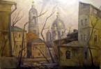В галерее Паломнического центра развернута экспозиция живописи и графики художника Владимира Герасимова «Дышу Москвой».