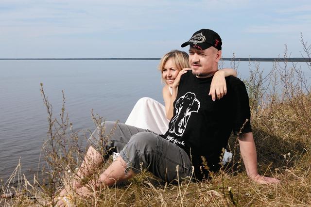 С мужем Алексеем Беловым