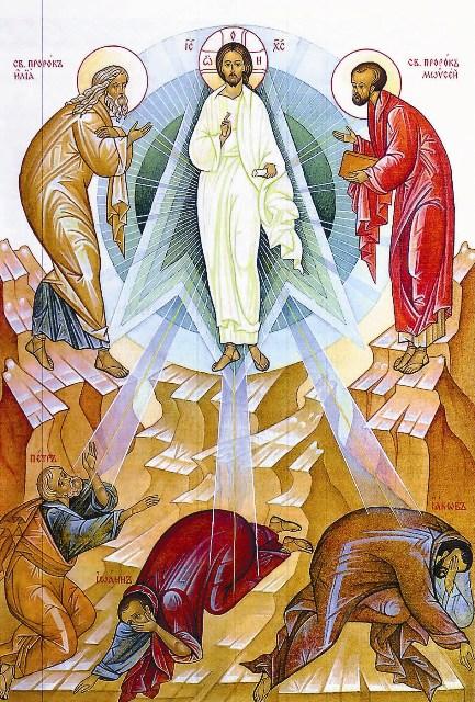 «…взяв Петра, Иоанна и Иакова, взошел Он на гору помолиться. И когда молился, вид лица Его изменился, и одежда Его сделалась белою, блистающею. И вот, два мужа беседовали с Ним, которые были Моисей и Илия». (Лк. 9, 28-30)