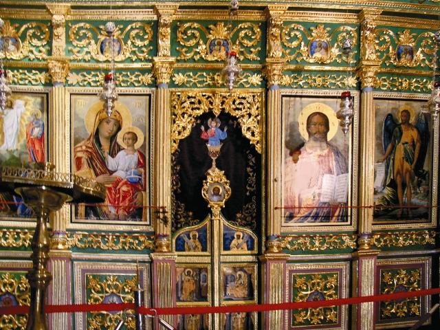 Главный алтарь Преображенского храма