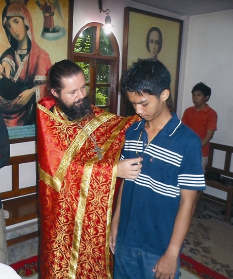Раб Божий Павел (Понгсакорн Родаон) после Святого Крещения