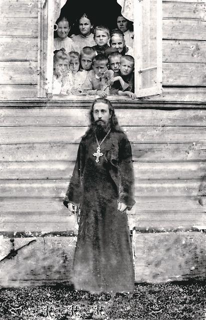 В селе Владычня среди прихожан у батюшки было много детей