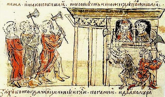 Радзивиловская летопись. Убийство варяга Федора и его сына Иоанна