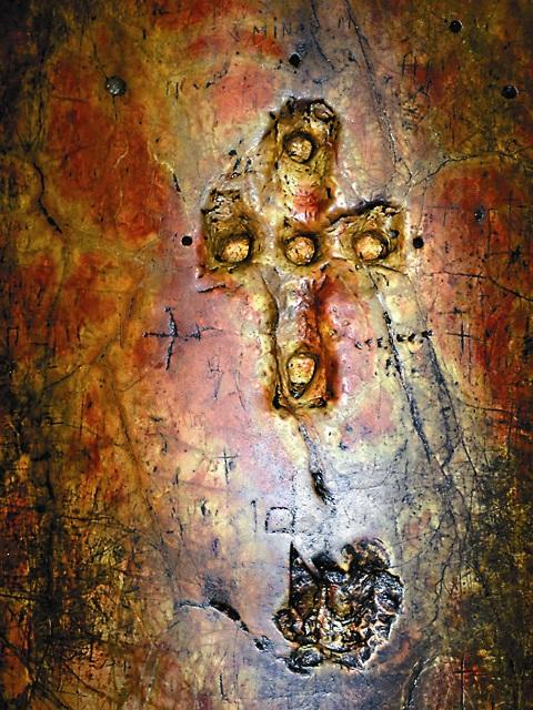 Фрагмент чудотворной колонны храма Рождества Христова в Вифлееме