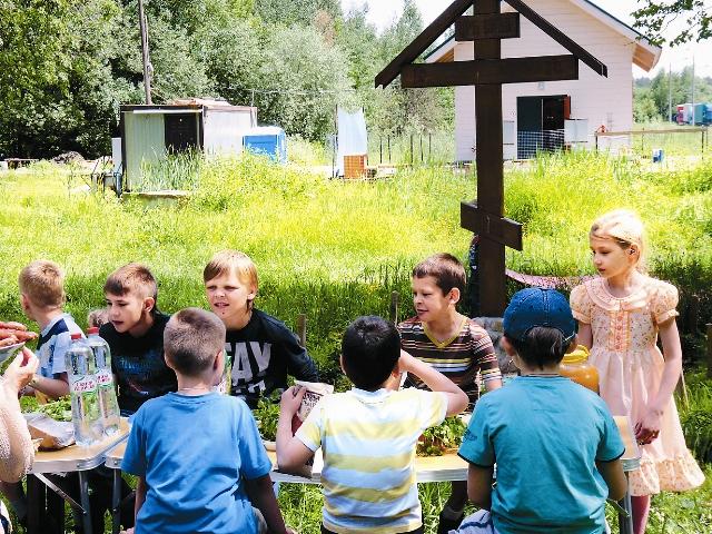 Пикник учеников воскресной школы