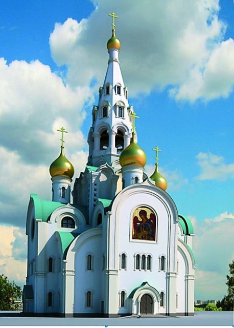 Макет нового храма