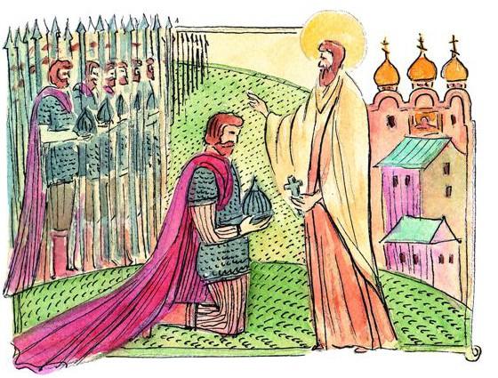 – С Божьей помо- щью, княже, одоле- ешь врага, но много русских людей падет