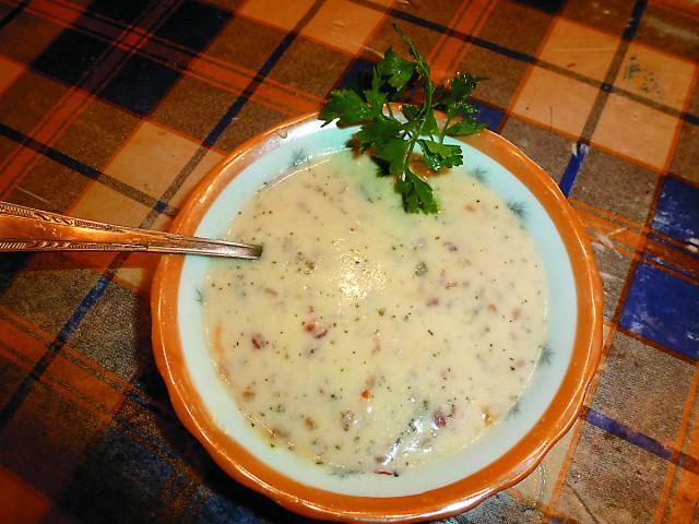 Суп из мацони с тархуном