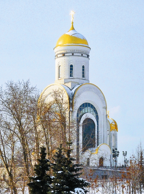 20 лет назад в парке Победы на Поклонной горе была заложена церковь во имя святого Георгия