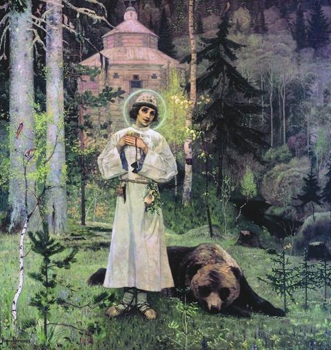 Из всего Сергиевского цикла картина «Юность преподобного Сергия» меньше всего похожа на икону. Но именно она явила однажды чудо