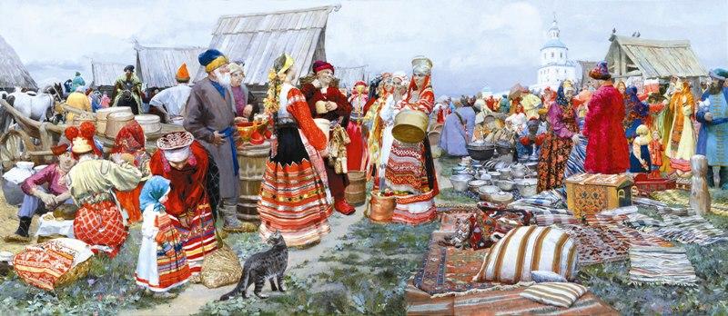 Святая великомученица Параскева Пятница считается покровительницей торговли, именно поэтому на Руси ярмарки утраивали преимущественно по пятницам.