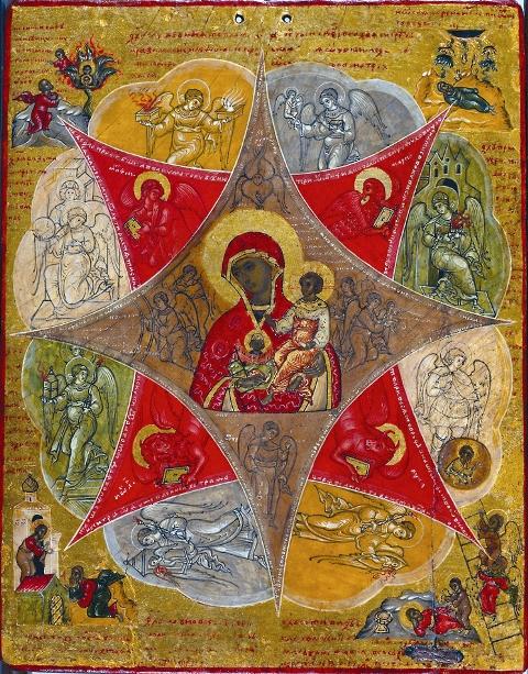 Неопалимая Купина – один из ветхозаветных прообразов, указывав- ших на Божию Матерь. Купина знаменовала собой непорочное зача- тие Богоматерью Иисуса Христа от Святого Духа