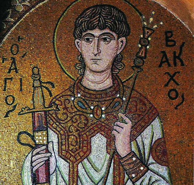 Вакх был забит до смерти плетьми и похоронен в Барбалисосе на берегу Евфрата