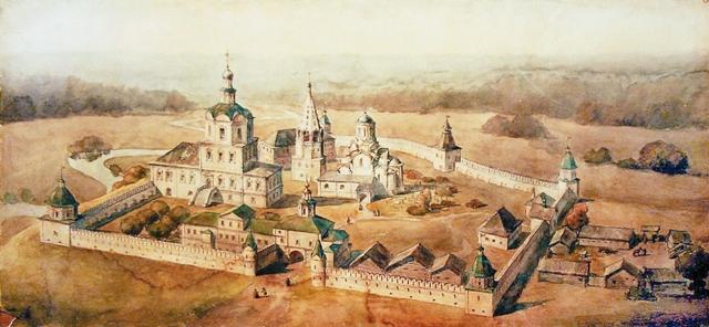 Вид монастыря в XVIII веке