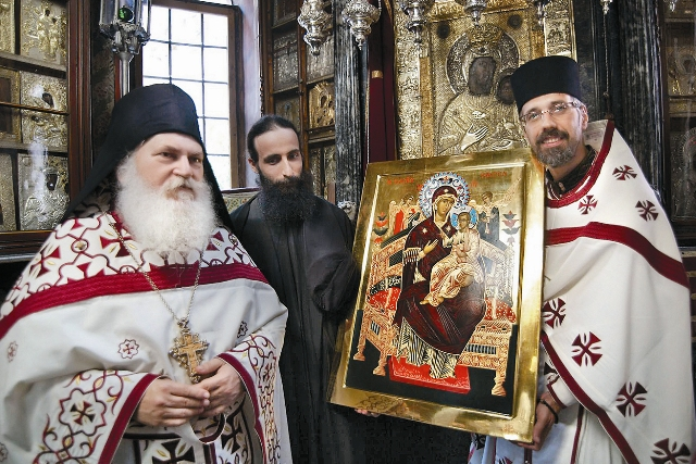 Ватопедский монастырь.  Афон