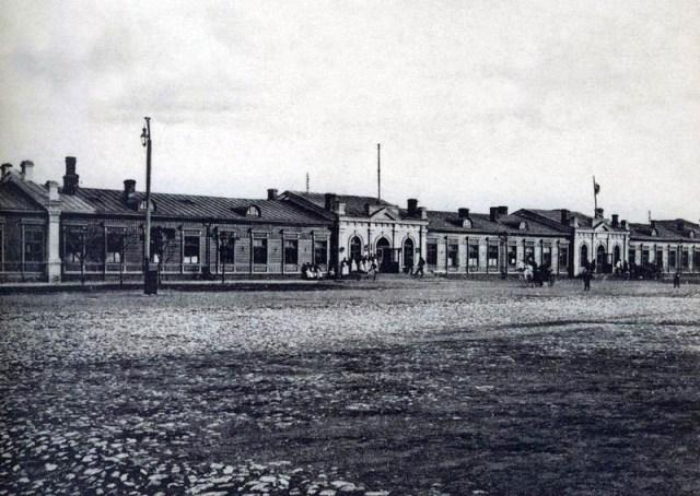 Здание Брянского вокзала в Дорогомилове. Фото начала ХХ века