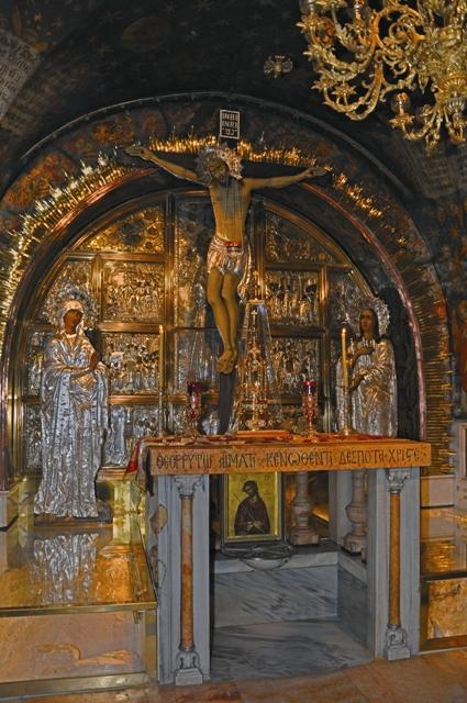 Голгофа в храме Гроба Господня
