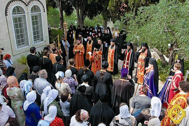 Праздник Горненского монастыря «Прихождение Божией Матери ри месяца жила в доме в Горний Град Иудов»
