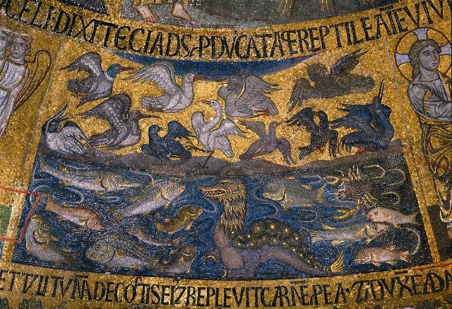 """Мозаика """"Сотворение рыб и птиц"""""""