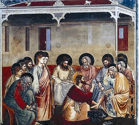 Омовение Иисусом ног Своим ученикам