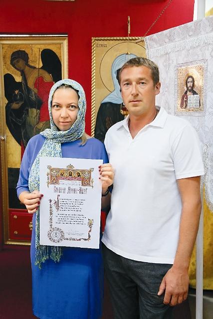 Валерий и Людмила, постоянные www.stmatrona.com прихожане и ктиторы храма