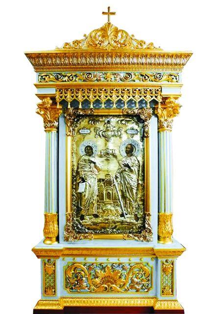 В 2008 году икона, подаренная Петром I, была обнаружена в Свято-Троицкой Сергиевой Лавре, куда ее отдал на реставрацию частный коллекционер