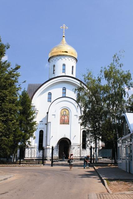 Храм в честь святой Евфросинии Московской в Котловке