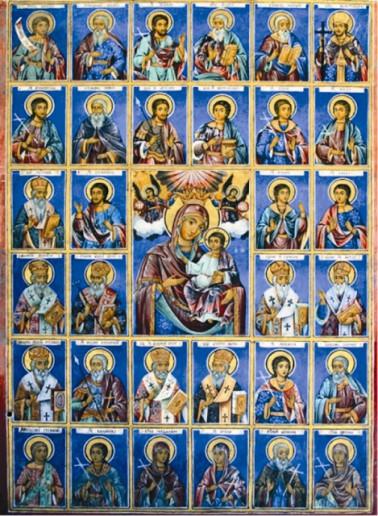 иконопись святых, чьи мощи находятся в мощевике