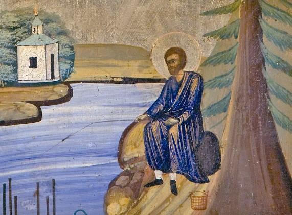 Святой Симеон добывал пропитание рыбалкой