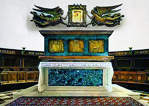 Гробница с мощами
