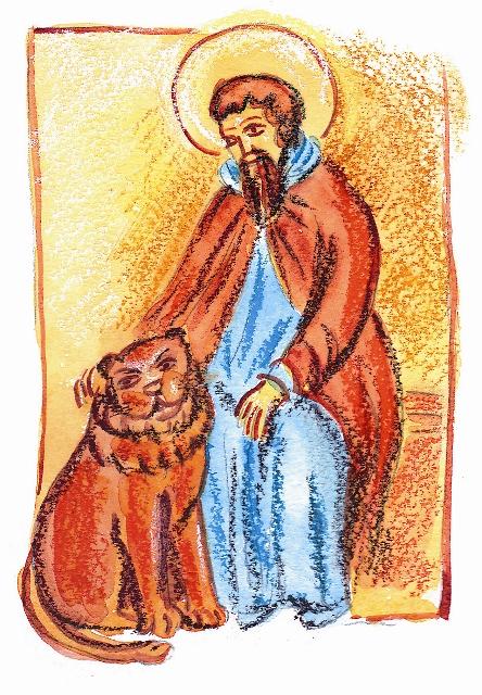Cвятой Герасим и лев, получивший впоследствии кличку Иордан