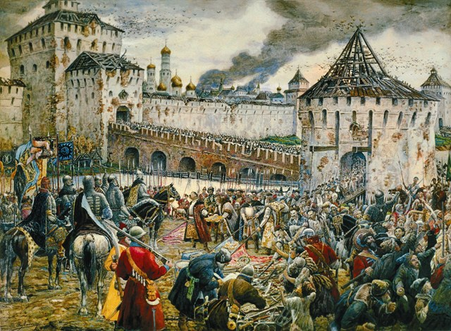 Князь Пожарский вступил в Китай-город с Казанской иконой Божией Матери