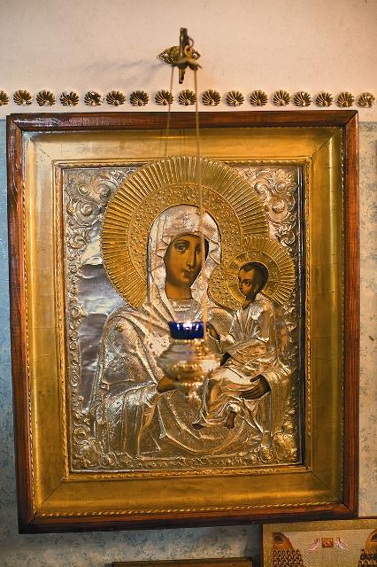 Тихвинская икона Божией Матери одна из главных святынь обители
