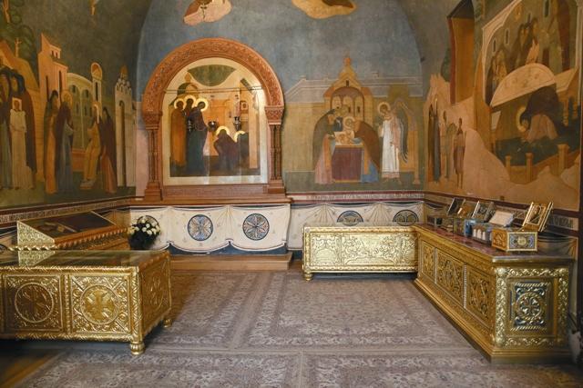"Икона ""Явление Божией Матери преподобному Сергию"" Серапионова палата"
