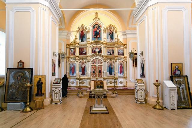 Интерьер храма святой Марии Магдалины