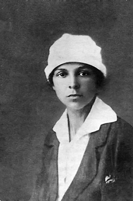 Мария Соколова в юности