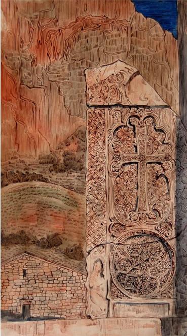 Хачкар в монастыре Нораванк