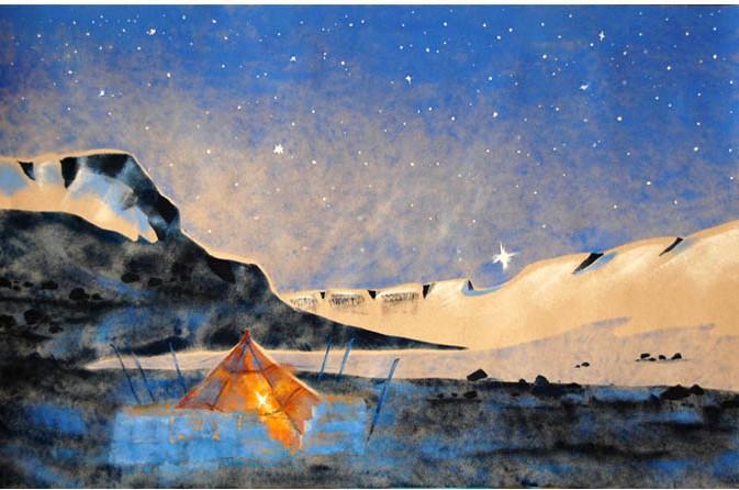 Венера над перевалом Крестовый. 2012 г.
