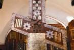 «...сотворен сей Великий Крест Божией Милостью Никоном, архиепископом Царствующего града Москвы и всея Великия и Малыя и Белыя России Патриархом, от честнаго древа кипариса и украшен серебром и златом в хвалу и поклонение христианом»