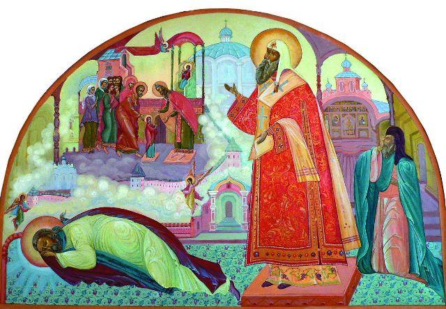 Явление Божией Матери преподобному Варлааму